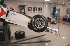 Sideview av bolid F1 Arkivbild