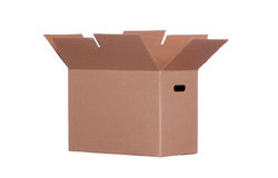 Sideview of cardboard box Royalty Free Stock Photography