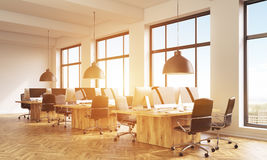 Sideview of coworking office toning Royalty Free Stock Image