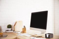 Sideview créatif de lieu de travail Photographie stock libre de droits