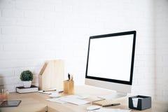 Sideview de bureau créatif Images libres de droits