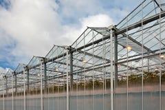 Sideview eines Gewächshauses in den Niederlanden lizenzfreie stockfotos