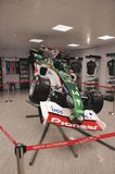 Sideview of F1 bolid Stock Images