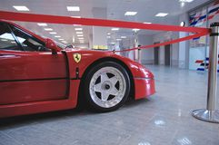 Sideview of Ferrari F40 Stock Photos