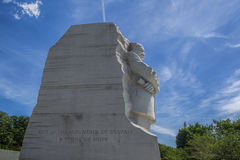 Sideview of MLK statue. The emotional side view of the MLK jr. statue in Washington DC Royalty Free Stock Image