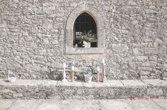 Sideview old church greece Royalty Free Stock Photo