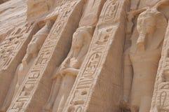 Sideview ot de tempel van Abu Simbel stock afbeelding