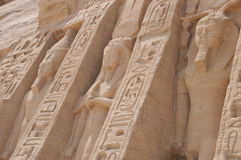 Sideview ot the temple of Abu Simbel Stock Image
