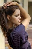 Sideview piękna twarz Zdjęcie Royalty Free