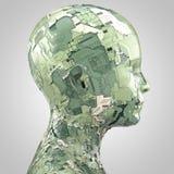 Sideview principal humanoid del extracto ilustración del vector