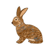 A sideview of a rabbit on a white background. Vector-art illustration Royalty Free Stock Image