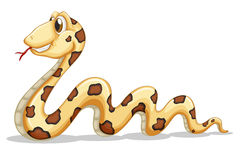 A sideview of a snake royalty free illustration