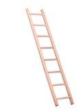 Sideview van geïsoleerde houten ladder royalty-vrije stock afbeeldingen