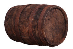 Sideview of wooden barrel Stock Photo