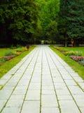 Sidewalk. Lillafured-Hungary-Miskolc summer sidewalk Royalty Free Stock Images