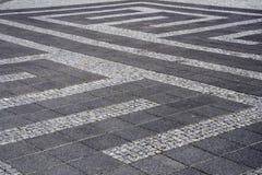 Sidewalk. Decorative pattern on sidewalk in Reykjavik, Iceland Stock Photography