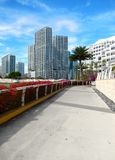 sidewalk along Biscayne Bay Stock Photo