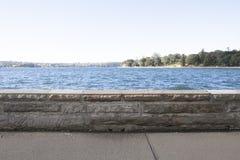 Sidewalk along side sea, Sydney, Australia Royalty Free Stock Image