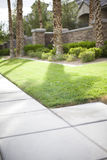 Sidewalk And Lawn Stock Images
