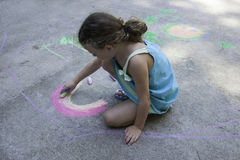 Sidewalk Art Stock Photo