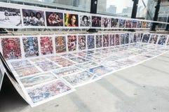 Sidewalk artworks Stock Photography