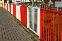 Sidewalk and barrier Royalty Free Stock Photo