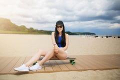 Sidewalk on the beach Stock Photography