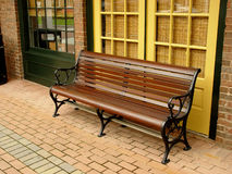 Sidewalk Bench royalty free stock images