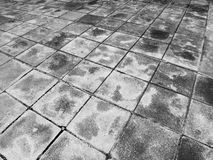 Sidewalk blocks abstract background black and white Royalty Free Stock Image