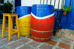 Sidewalk bodega in old town of Marbella, Spain Royalty Free Stock Photo