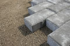 Sidewalk from bricks Stock Photos