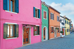 Sidewalk in Burano Royalty Free Stock Images