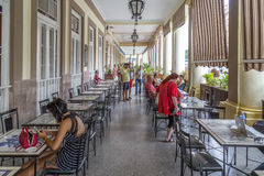 Sidewalk café at the Hotel Inglaterra, Havana, Cuba Stock Photos