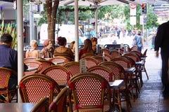 Sidewalk cafe in Brisbane Stock Image