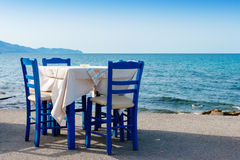 Sidewalk cafe in Kissamos. Crete, Greece Stock Image