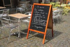 Sidewalk cafe Stock Images