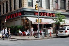 Sidewalk Cafe in New York City stock images
