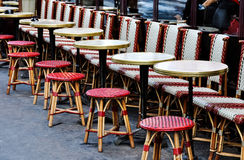 Sidewalk cafe in Paris Stock Photo