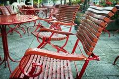 Sidewalk cafe Stock Photo