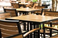 Sidewalk Cafe Tables Stock Images
