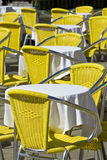 Sidewalk cafe tables in Venice Royalty Free Stock Images