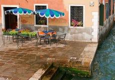 Sidewalk cafe, Venice. Sidewalk cafe in Venice, Italy Stock Photos