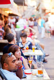 Sidewalk cafes in Nice Royalty Free Stock Photos