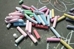 Sidewalk Chalk stock photography