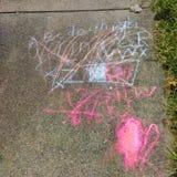 Sidewalk Chalk Art Royalty Free Stock Image
