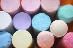 Sidewalk Chalk Closeup royalty free stock photos