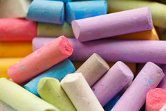 Sidewalk chalk Stock Photos
