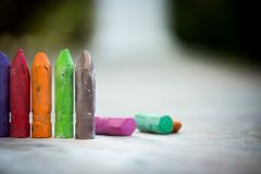 Sidewalk Chalk on Concrete Texture Stock Photography