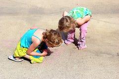 Sidewalk chalk fun Royalty Free Stock Photography