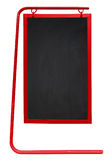 Sidewalk Chalkboard isolated - red Stock Images